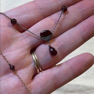 Dana Kellin Sundance Catalog Garnet 925 Necklace